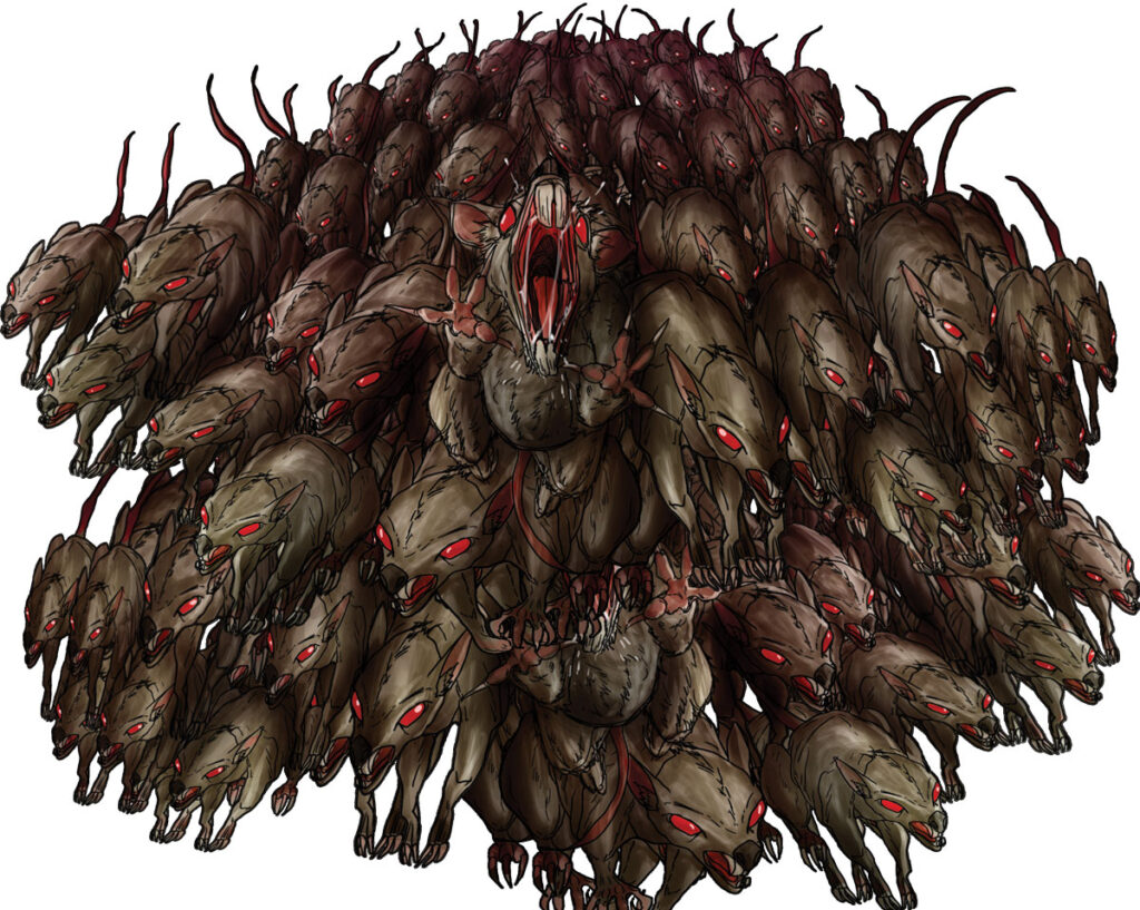 Rat swarm in the Firebend Mine ruins - Quests: Heroes of Sorcado